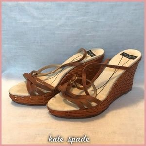 Kate Spade Straw Wedges